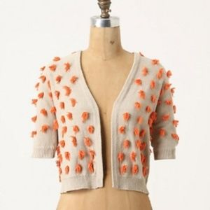 Anthropologie Sparrow Tufted Dots Cardigan Small